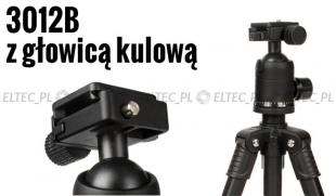 STATYW fotograficzny 140cm, model 3012B + etui