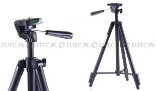 Lekki statyw fotograficzny 3D 124cm, model WT-3130 czarny