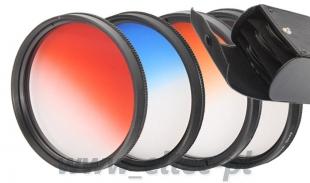 Zestaw 4 filtrów połówkowych 58mm w FUTERALE