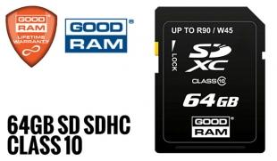 64GB Karta pamięci SD SDHC GOODRAM, Class 10