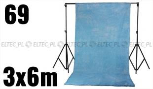 Tło bawełniane gnieciuch 3x6m kolor nr 69