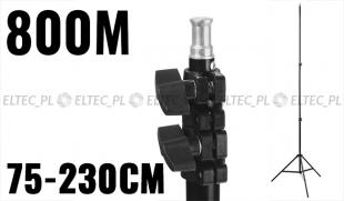 Statyw studyjny oświetleniowy 800M-16 75-230cm, głowica 16mm