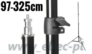 Statyw studyjny oświetleniowy ST-807 97-325cm, głowica 16mm + trzpień 1/4''