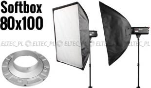Softbox 80x100cm, mocowanie Bowens
