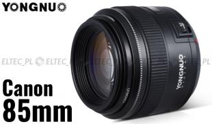 Obiektyw stałoogniskowy YONGNUO 85mm f/1,8 do Canon