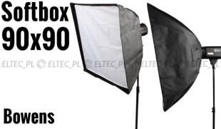 Softbox 90x90cm, mocowanie bowens