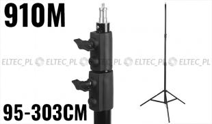 """Statyw studyjny oświetleniowy 910M-16 95-303cm, głowica 16mm 1/4"""""""