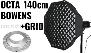 Softbox ośmiokątny OCTA 140cm z Gridem - mocowanie Bowens