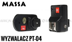 Wyzwalacz radiowy PT-04 lamp na gorącą stopkę 4K/AAA