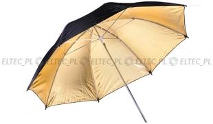 Parasolka odbijająca czarno-złota 83cm