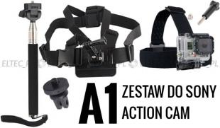 ZESTAW MONTAŻOWY A1 do kamer sportowych (Sony Action Cam)