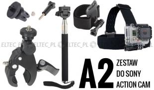 ZESTAW MONTAŻOWY A2 do kamer sportowych (Sony Action Cam)
