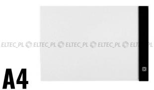 Podświetlana deska kreślarska A4 cienka