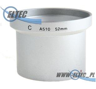Tulejka do CANON A510 A520 A540 52mm (srebrna)