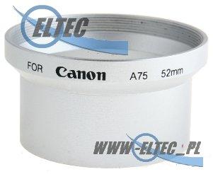 Tulejka do CANON A60 A70 A75 A85 52mm (srebrna)