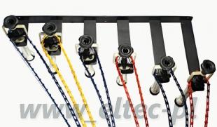 Łańcuszkowy system zawieszania teł na 6 teł (POWYSTAWOWY)
