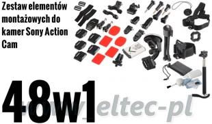 ZESTAW MONTAŻOWY 48w1 do kamer Sony Action Cam (akumulator BX1)