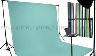 WYPRZEDAŻ - Tło kartonowe 1,35 x 11m na tulei / kolor nr. 165 AQUA niebieskie