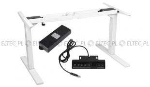 Biurko elektryczne z regulowaną wysokością - białe (stelaż)