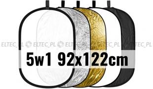 Blenda 5w1 owalna, rozmiar 92x122cm