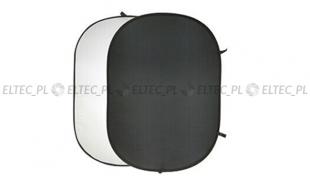 Blenda 2w1 owalna bawełniana czarno biała, rozmiar 150x200cm