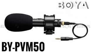Mikrofon pojemnościowy STEREO BOYA, model BY-PVM50
