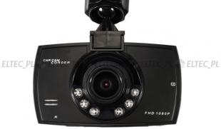 Kamera rejestrator jazdy 1080P akumulator