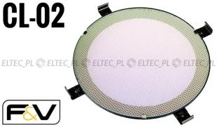 Szklany filtr DICHRONICZNY do lamp SPOT LIGHT, RED HEAD 5500K, model CL-02