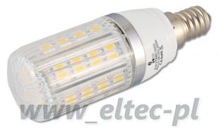Żarówka E14 27 LED 5050 SMD CIEPŁA 4,5W=45W (+ OSŁONKA)