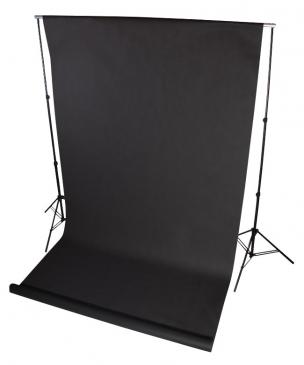 Zestaw zawieszania teł + 1x tło 1,6x5m + belka 170cm + klipy żabka - DOMOWE STUDIO