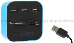 Uniwersalny czytnik HUB zewnętrzny USB 2.0
