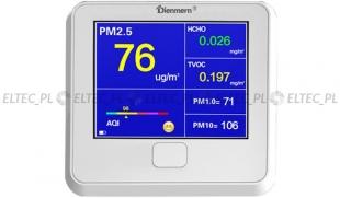 Pyłomierz 6w1 DM103 PM1, PM2.5, PM10, HCHO, TVOC oraz INDEKS JAKOŚCI POWIETRZA