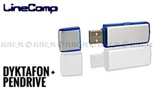 Dyktafon + pendrive USB 8GB srebrny