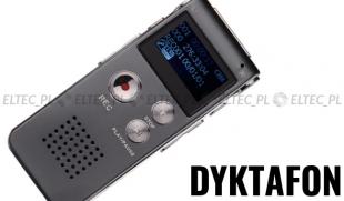 Dyktafon cyfrowy wyświetlacz 8GB