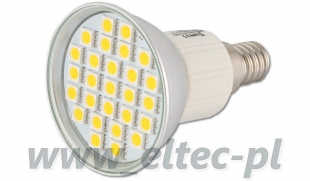 Żarówka E14 27 LED 5050 SMD CIEPŁA 4W=40W SPOTLIGHT