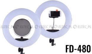 Lampa pierścieniowa LED RING 5500K ŚCIEMNIACZ 96W model FD-480