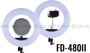 Lampa pierścieniowa LED RING 3200-5500K ŚCIEMNIACZ 96W model FD-480 II