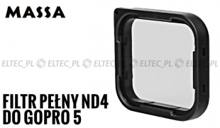 Filtr pełny szary ND4 do GoPro HERO 5 (GP930)
