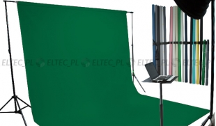Tło kartonowe 2,72 x 11m na tulei / kolor nr. 162 FOTO GREEN zielone, green screen
