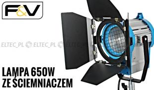 Lampa z soczewka Fresnela 650 dimmer ŚCIEMNIACZ