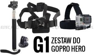 ZESTAW MONTAŻOWY G1 do GoPro Hero 1, 2, 3, 3+, 4, 5 SJ4000