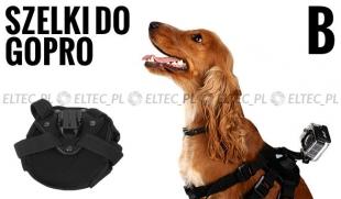 Szelki dla psa typ B, mocowanie do GoPro (GP203)