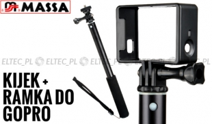 Zestaw: Monopod 95cm + Ramka do GoPro Hero 3 3+ 4  (GP56 + GP71)