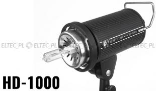 Lampa światła stałego KWARCOWA moc 1000W, model HD1000 (Bowens)