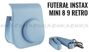 Futerał INSTAX Mini 8 9 Retro - błękitny