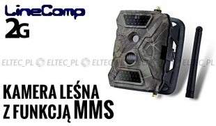 Kamera leśna z MMS 2G GPRS, fotopułapka Full HD 12MP, model 2.6CM