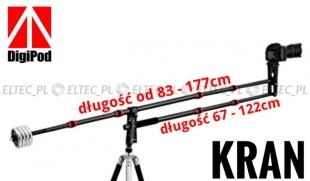 Wysięgnik, KRAN kamerowy z koszykiem + 5x obciążnik (5x1,25kg)
