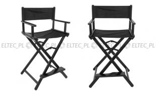 Krzesło reżyserskie, do makijażu z podnóżkiem