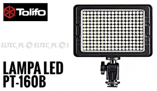 Lampa Panelowa LED 3200-5600K, model Tolifo PT-160B