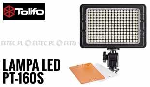 Lampa Panelowa LED 5600K, model Tolifo PT-160S